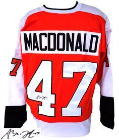 Andrew MacDonald Signed Custom Orange Pro-Style Hockey Jersey SI - Sports Integrity