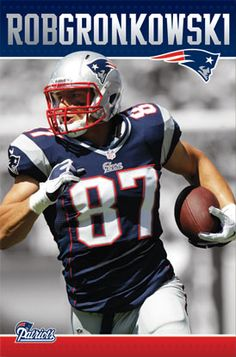 Rob Gronkowski Passion New England Patriots Action Poster - Costacos 2012