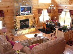 Warm and cozy living at Chalet du' Mont in Bryson City, NC