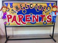 Bulletin board for school PTM (Parent teacher meeting).