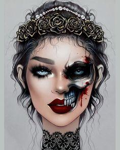 Crazy Makeup, Cute Makeup, Makeup Inspo, Makeup Inspiration, Makeup Ideas, Sfx Makeup, Beauty Makeup, Halloween Makeuo, Exotic Makeup