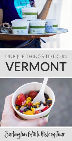 Things to do in Vermont: Burlington Edible History Tour Le Vermont, Burlington Vermont, Voyage Usa, Stuff To Do, Things To Do, New England Travel, Travel Usa, Beach Travel, Travel Trip