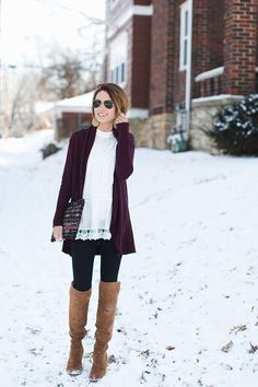 Styling a Lace Blouse in the Winter
