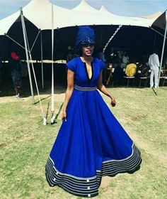 African sotho Shweshwe dresses for 2020 ⋆ Sotho Traditional Dresses, African Traditional Wedding, African Traditional Dresses, Traditional Wedding Dresses, Traditional Fashion, Traditional Outfits, Venda Traditional Attire, South African Dresses, African Print Dresses