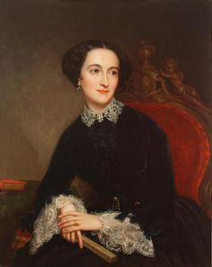Portraits by George Peter Alexander Healy, c. 1853, Mrs. Agnes Doyle Evans.