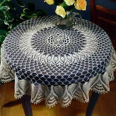Crochet Art: Crochet Tablecloth Pattern - Gorgeous Crochet Lace