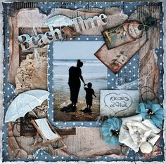 Making A Bridal Shower Scrapbook – Scrapbooking Fun! Beach Scrapbook Layouts, Vacation Scrapbook, Scrapbooking Layouts, Scrapbook Cards, Scrapbook Designs, Baby Scrapbook, Digital Scrapbooking Freebies, Digital Papers, Beach Fun