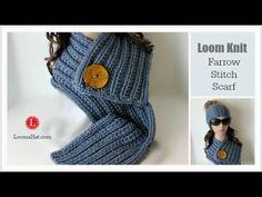 Farrow Rib Stitch Scarf - Loom Knit Pattern