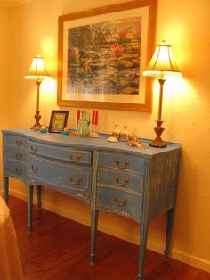 painted Buffets And Sideboards   Picture: Vintage painted sideboard provided by Rissi Cherie Decorating ...