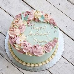 easy ways to decorate a chocolate cake Buttercream Flower Cake, Cake Icing, Eat Cake, Cupcake Cakes, Pretty Cakes, Cute Cakes, Beautiful Cakes, Rose Cake, Specialty Cakes
