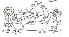 Cantinho da Jana: Riscos para pintura em tecido de porquinhas