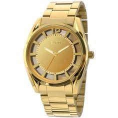 ae15f0fb127 Relógio Analógico Euro Isabeli Fontana EU2035XYP 4D - Dourado Caixa redonda  em metal banho gold