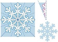 Paper Snowflake Patterns, Snowflake Template, Paper Snowflakes, Christmas Makes, Christmas Art, Christmas Projects, Handmade Christmas, Christmas Snowflakes, Snow Flakes Diy