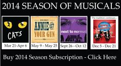 San Diego Musical Theatre's 2014 Season of Musicals! www.sdmt.org 858-560-5740.