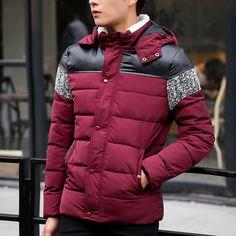 Купить товар2016 Сгущает Пуховик для Мужчин Зима Теплая Куртки Парки легкий Тонкий Толстовки С Капюшоном Ватные Вниз Пальто Вниз Пальто 5X Y1992 в категории Паркина AliExpress. Men Male Casual Thicken Winter Warm Padded Down Jacket Parkas Hooded Detachable Hoodies Down Coat Outerwear Coats Plus S