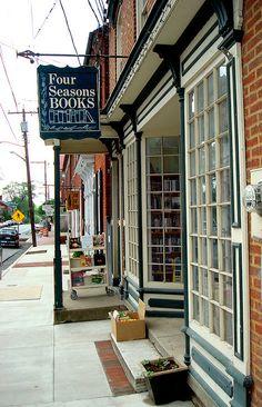 *Four Seasons Book Store, Shepherdstown, WV, via Amanda Patterson from Flickr.  http://fourseasonsbooks.com