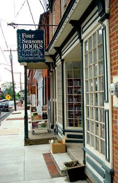 *Four Seasons Book Store, Shepherdstown, WV, via Amanda Patterson from Flickr.  http://fourseasonsbooks.com