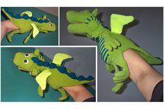 Häkelanleitungen - Handpuppe grüner Drachen Häkelanleitung - ein Designerstück von michi-h-art bei DaWanda