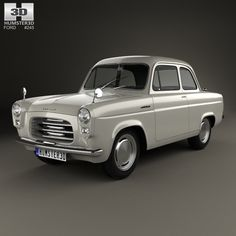 Ford Anglia 100E 1953 3d model from Humster3D.com