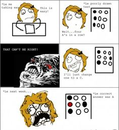 Why Teacher Put All The Right Answers on A. - Posted in Funny, Troll comics and LOL Images - LOL Heaven