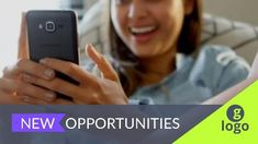 A creative job vacancy video template. A background video of employee just being hired and white text displaying 'new opportunities' Creative Jobs, New Opportunities, Just Be, Opportunity, Templates, Stencils, Template, Patterns