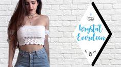 DIY Crochet Top // Braedyn Bralette part 1 Top Crop Tejido En Crochet, Diy Crochet Top, Crochet Halter Tops, Crochet Bikini Top, Free Crochet, Knit Crochet, Crotchet, Diy Bralette, Crop Top Pattern