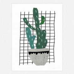 Cactus Art Print - cool wall decor for kids and adults Tree Wall Art, Framed Wall Art, Wall Art Prints, Poster Prints, Posters, Cool Wall Decor, Black Wall Art, Childrens Wall Art, Affordable Wall Art