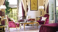 [Blog with Design Tips]  Aubusson Rugs Adorn the Art Filled Interiors of Four Seasons Firenze