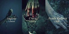 harry potter, império, and crucio afbeelding