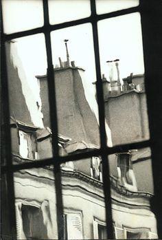 andré kertész - les toits de paris, 1963 . love windows w/ a view