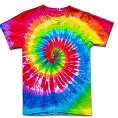 Tie Dye Shirt Handmade Hippy T-Shirt Colorful Man Woman Unisex Hippie Men, Hippie Boho, Hippie T Shirts, Hippie Pants, Boho Pants, 50th Birthday Messages, Men And Women, Pants For Women, Tee T Shirt