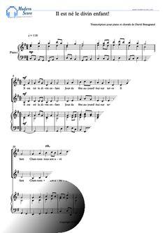 Partition noël gratuite. Partition piano chorale - Il est né le divin enfant !