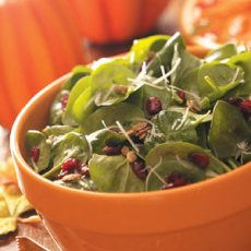 Pumpkin Seed Spinach Salad Recipe