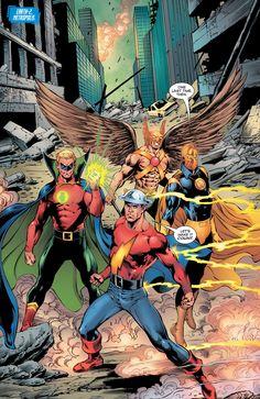 "Convergence: Justice Society of America #1 ""Society"" - Tom Derenick, Ink - Trevor Scott Color - Monica Kubina"