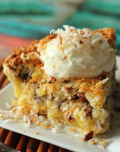Island Pecan Pie - With coconut and pineapple, it is the best pecan pie !
