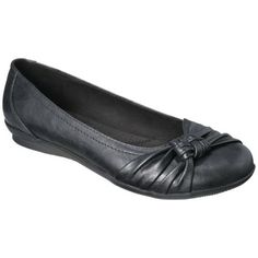 Women's Merona® Matia Ballet Comfort Flat - I think the black says dressy… but maybe too formal of a color esp for the junior bridesmaids
