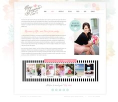 Hey Gorgeous Events  / Website and Blog design by Love Inspired