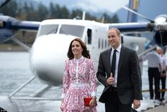 The Duke and Duchess of Cambridge looked in awe at the natural beauty of Vancouver as they touched down today