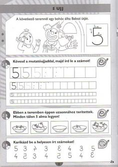 Fotó: Simple Math, Paper Trail, Writing Numbers, Preschool Math, Math For Kids, Creative Teaching, Speech Therapy, Kids And Parenting, Worksheets