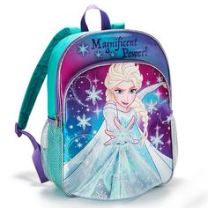 Elsa from Disney's Frozen adorns the front of this backpack. LED lights in the lining of the front light up to make Elsa's dress sparkle. Regularly $24.99, shop Avon Living online at http://eseagren.avonrepresentative.com