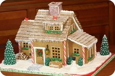 This is seriously the most perfect gingerbread house! I LOVE it!