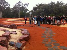 Volunteer guides have a special sneak peak of the Red Centre Garden.
