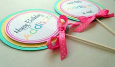 Lollipop Table Centerpieces  set of 4  Sweet by ThePaigeSpot, $12.00