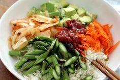 Vegan Korean Recipes: Raw Summer Bibimbap| Peaceful Dumpling