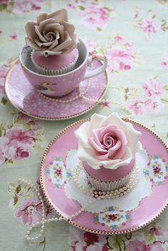 Pink, teacups, roses & pearls.....some of my favorite things