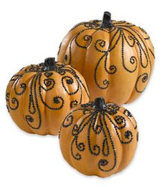 Pumpkin decorating idea