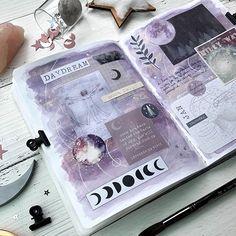 Create a unique art journal with handmade painted Art Journal Pages, Art Journal Challenge, Art Journal Prompts, Journal Themes, Art Journal Techniques, Art Journals, Journal Ideas, Bullet Journal Aesthetic, Bullet Journal Art