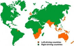 Why Some Countries Drive on the Right and Some Countries Drive on the Left