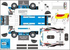 Caminhão de Papel   Super Facil de Montar, Escolha seu Caminhão, Imprima a imagem e faça seu caminhão...   Recortar e Colar - Brinquedos de...