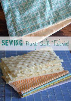 Burp Cloth Tutorial :: Sewing for Baby Easy Sewing Tutorial - Minky Burp Clothes for Baby. Sew boutique burp clothes for a fraction of the cost!Easy Sewing Tutorial - Minky Burp Clothes for Baby. Sew boutique burp clothes for a fraction of the cost! Baby Sewing Projects, Sewing Projects For Beginners, Sewing For Kids, Sewing Tutorials, Sewing Hacks, Sewing Crafts, Sewing Patterns, Sewing Tips, Tutorial Sewing